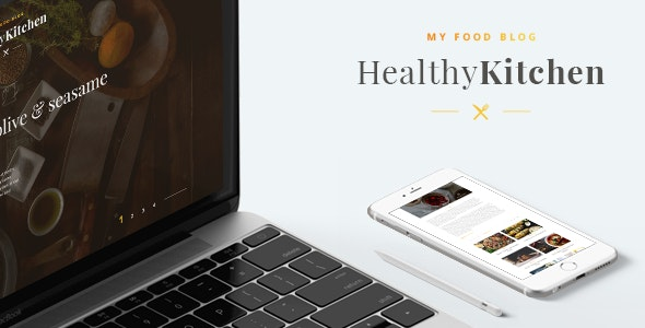 Healthy Kitchen - Food Blog Template - Food Retail