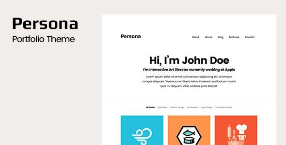 Persona - Portfolio WordPress Theme
