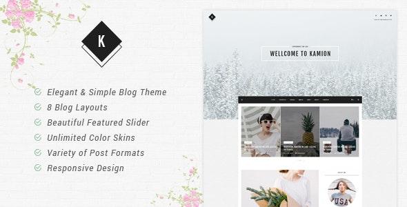 Kamion - Responsive WordPress Blog Theme - Personal Blog / Magazine