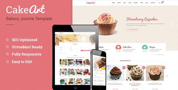 Joomla Bakery & Cake Template - Cakeart - Food Retail