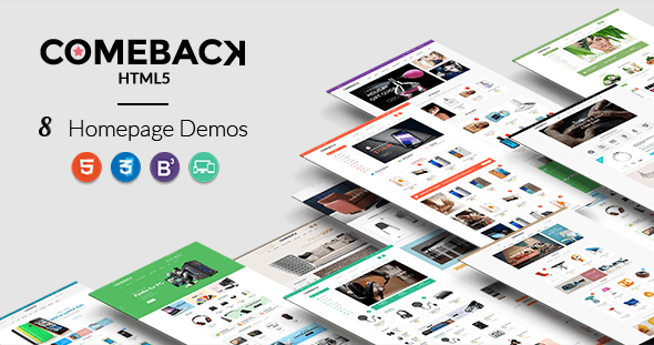 Comeback - Premium Multipurpose HTML5 theme - Retail Site Templates