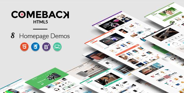 Comeback - Premium Multipurpose HTML5 theme