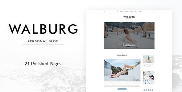 Walburg | Universal Personal Blog PSD Template - Personal Photoshop