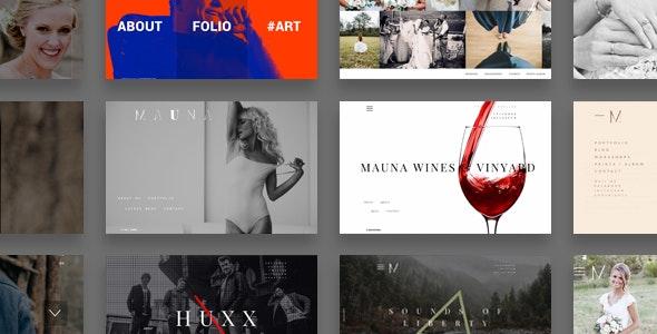 Mauna - full screen portfolio & agency theme - Photography Creative