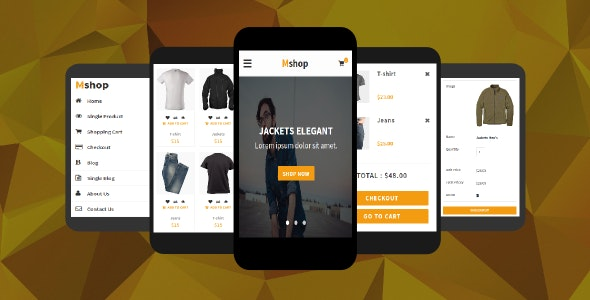 Mshop - eCommerce Mobile Template - Mobile Site Templates
