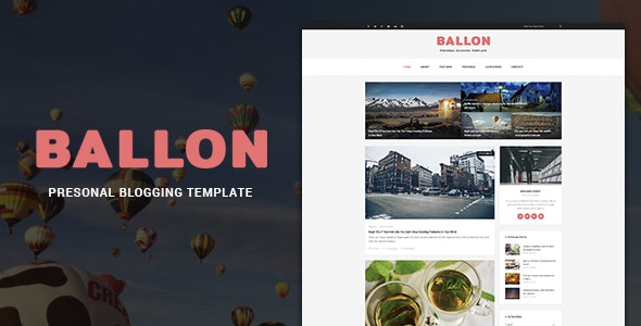 Balloon - Personal Blog PSD Template - Personal Photoshop