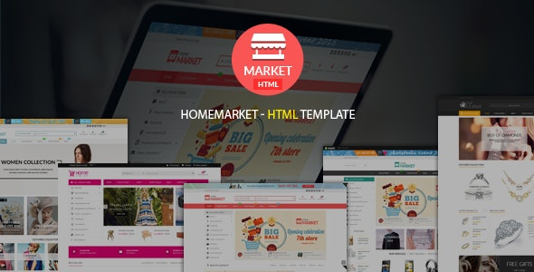 Home Market | Creative & Modern Responsive eCommerce  HTML Template - Shopping Retail