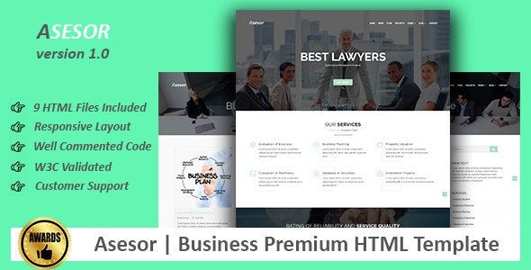 Asesor | Business Premium HTML Template - Business Corporate