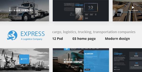 Express - Modern Transport & Logistics PSD Template - Business Corporate