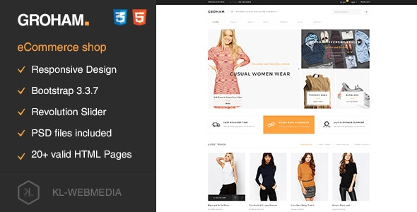 Groham - Fashion eCommerce HTML template - Fashion Retail