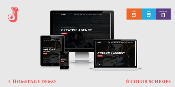 JANNAT - Onepage Creative Agency Template - Creative Site Templates