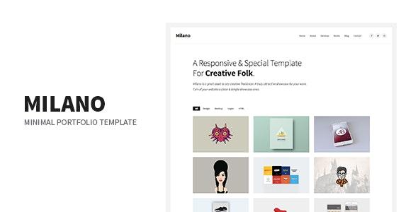 Milano - Minimal Creative Agency Portfolio Responsive Site Template - Portfolio Creative