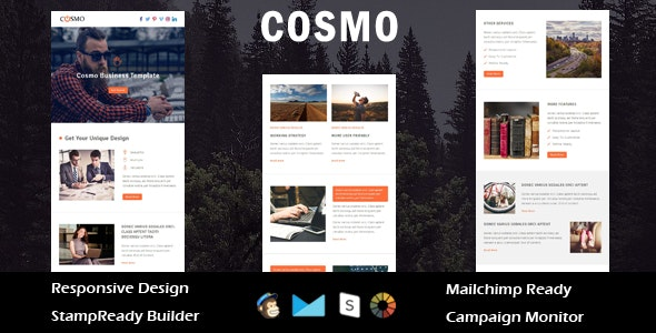 Cosmo - Multipurpose Responsive Email Template + Stampready Builder - Email Templates Marketing
