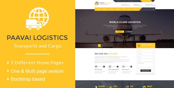 Paavai Logistics – Transport and Cargo HTML Template by