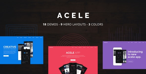 Acele - App, Game, Product HTML Template - Technology Site Templates