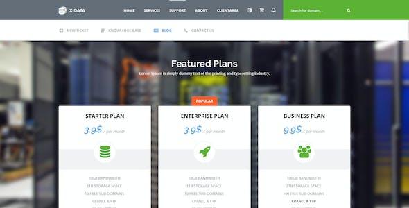 X-DATA - Hosting PSD Template