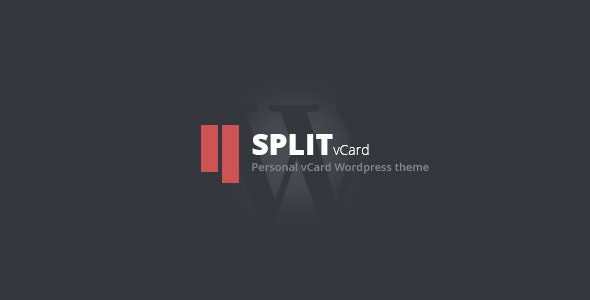 Split : WordPress CV/Vcard Template - Portfolio Creative