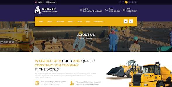 Driller -  Construction & Building PSD Template