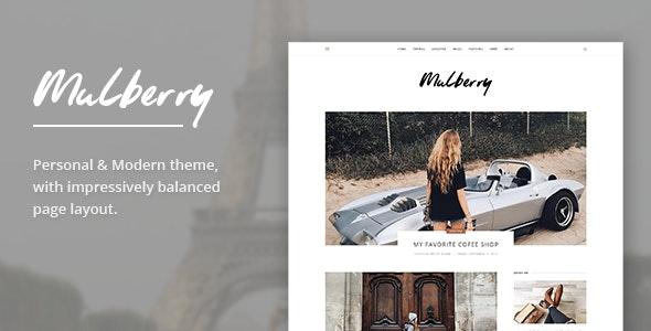 Mulberry - Modern Blog HTML Template - Fashion Retail