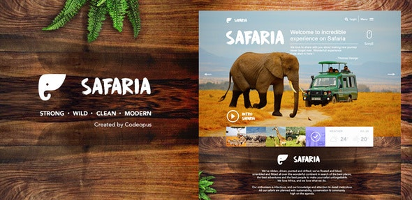 Safaria - Responsive Safari Template - Corporate Site Templates