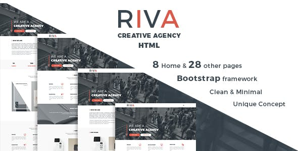 RIVA - Creative Agency and Portfolio HTML5 Template