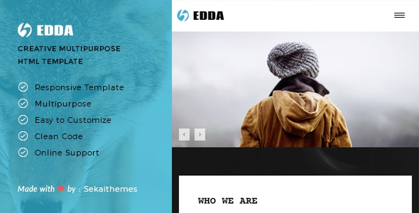Edda - Creative Portfolio and Multipurpose HTML Template - Creative Site Templates