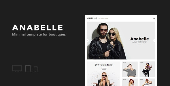 Anabelle - eCommerce for Boutiques - eCommerce Muse Templates