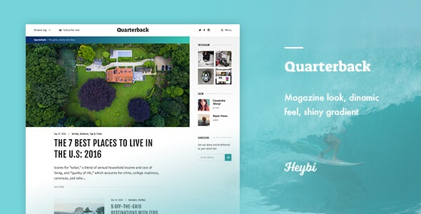 Quarterback: Responsive Magazine Theme - Ghost Themes Blogging