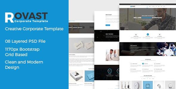 Rovast - Corporate PSD Template - Corporate Photoshop