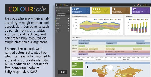 COLOURcode - Professional Interface Framework - Admin Templates Site Templates