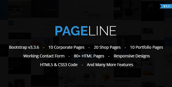 PageLine - Bootstrap Based Multi-Purpose HTML5 Template - Corporate Site Templates
