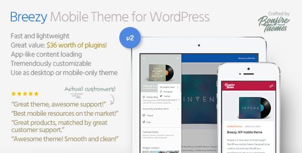 breezy mobil uyumlu wordpress teması