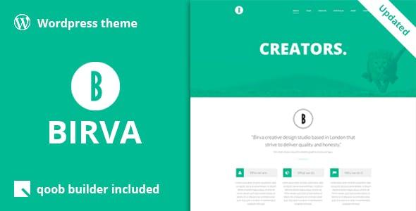 Birva - Creative One Page WordPress Theme