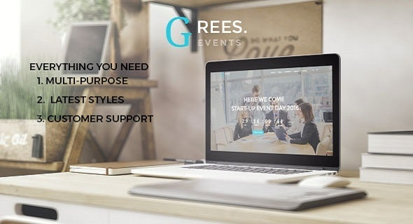 Grees-Business,Event and Personal Responsive Template - Creative Site Templates