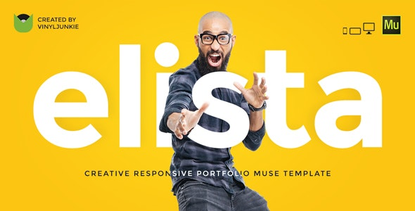 Elista - Responsive Creative Portfolio Muse Template - Creative Muse Templates