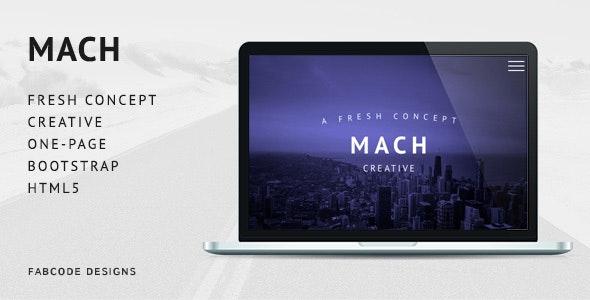 MACH - Fresh Concept One Page Creative HTML5 Template - Portfolio Creative