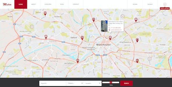 Metro Directory & Listing Multipurpose PSD Template