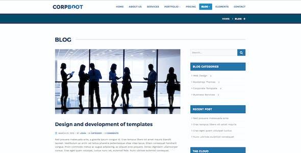 Corpboot - Corporate Website Template