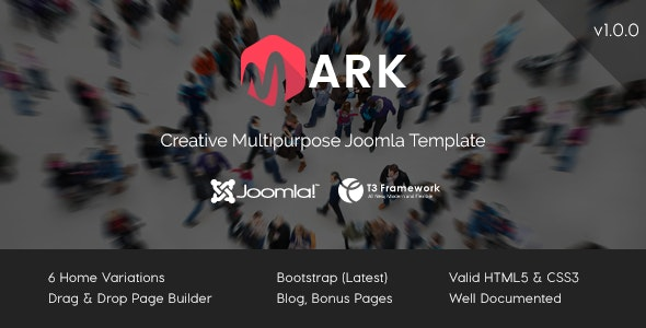 Mark - Creative Multipurpose Joomla Template - Business Corporate