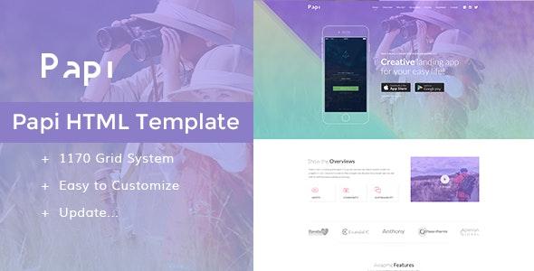 Papi App HTML Template - Apps Technology
