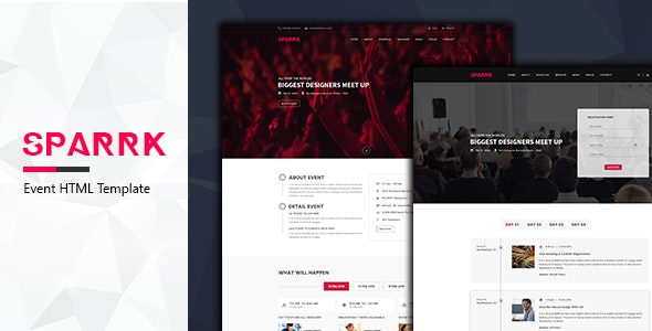 Sparrk – Event & Conference HTML5 Template - Events Entertainment