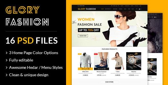 Glory Fashion eCommerce PSD Template - Fashion Retail