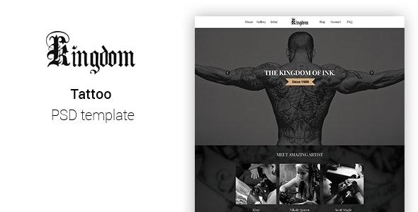 Kingdom - Tattoo template PSD - Health & Beauty Retail