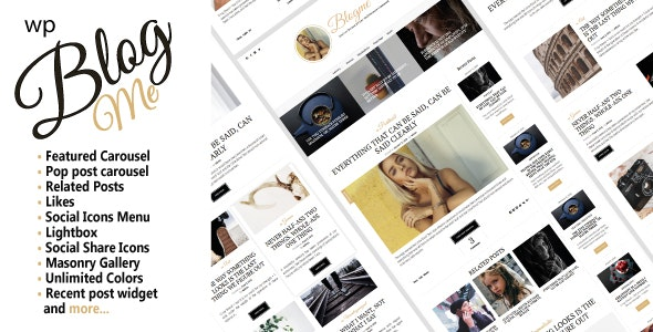 Blogme. Responsive theme for blog or magazine - Blog / Magazine WordPress