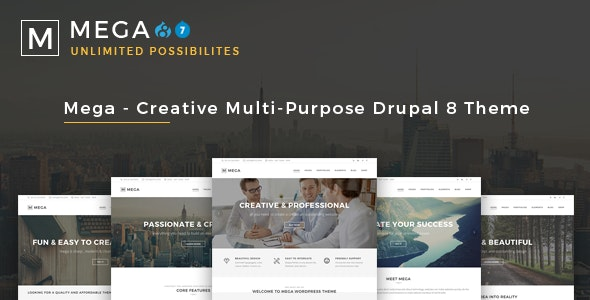 Mega - Creative Multi-Purpose Drupal 7 - 8.8 Theme - Business Corporate