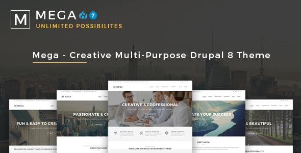 Mega - Creative Multi-Purpose Drupal 7 - 8.7 Theme - Business Corporate