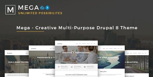 Mega - Creative Multi-Purpose Drupal 7 - 8.8 Theme