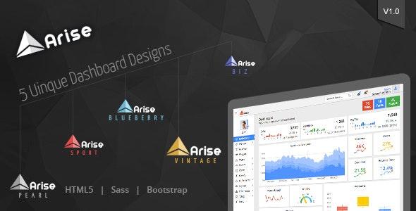 Arise Admin Dashboard - Admin Templates Site Templates