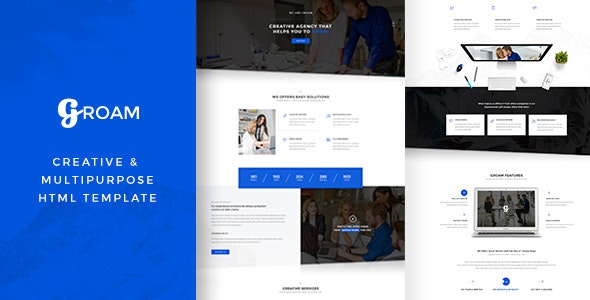 GROAM - Multipurpose HTML Template - Corporate Site Templates
