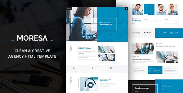 MORESA - Multipurpose HTML  Template - Corporate Site Templates